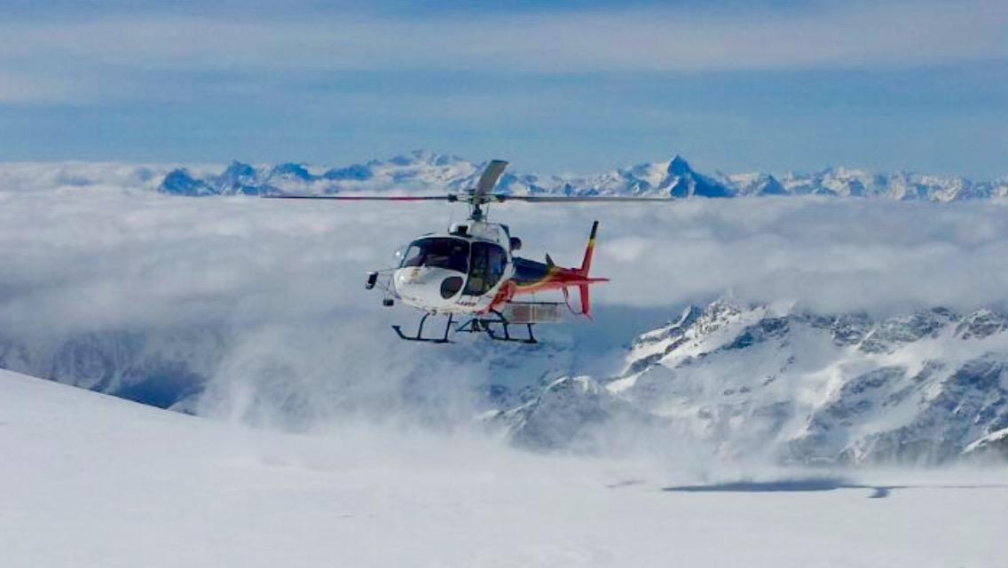 Helicóptero heliski Alagna