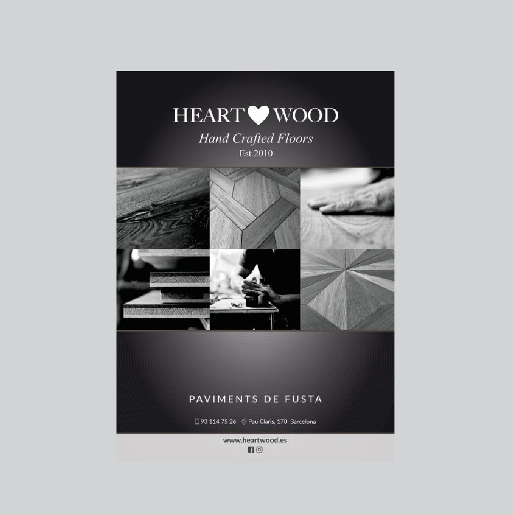HEART WOOD | Folletos – Diseño – Branding – Impresión – Flyers